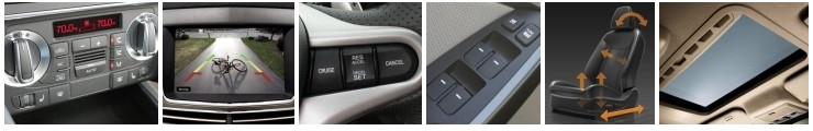 Various auto accessory examples.